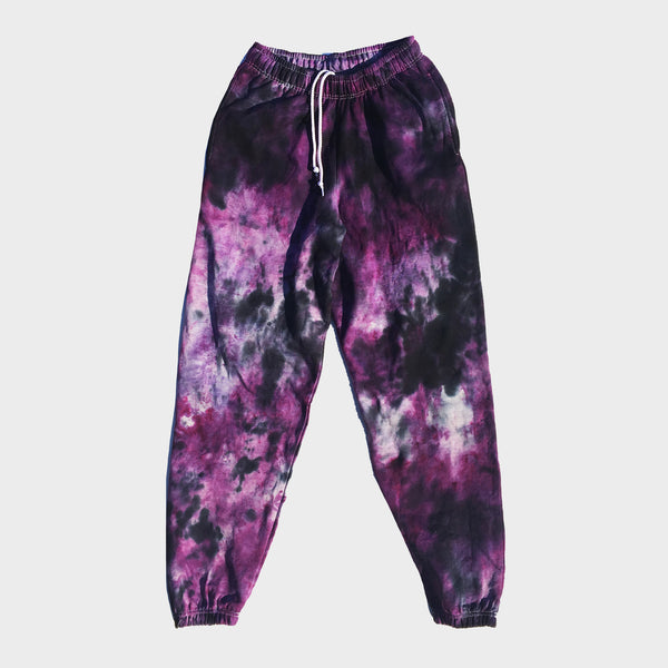Purple/Black Hoodie Tie Dye Set