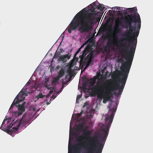 Purple/Black Tie Dye Jogging Pants (Joggers)