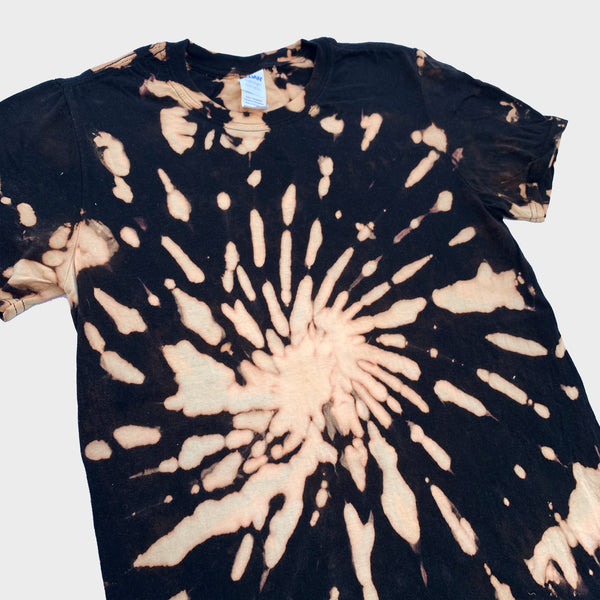 Acid Burned Spiral Tie Dye T-shirt