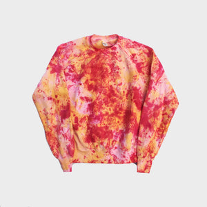 Plain Red/Yellow Tie Dye Sweatshirt