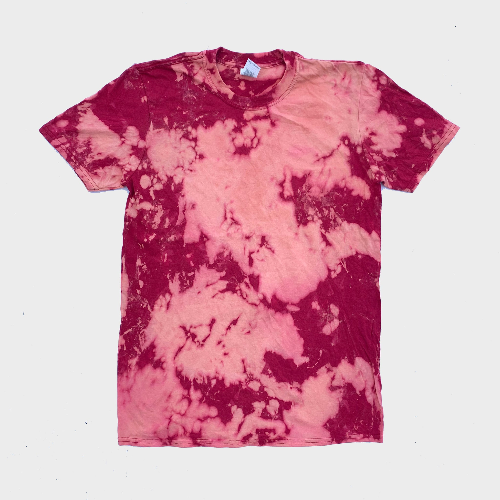Red/Orange Reverse Tie Dye T-shirt