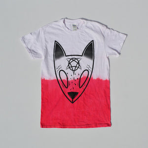 Satans Little Helper Red/White Tie Dye T-shirt