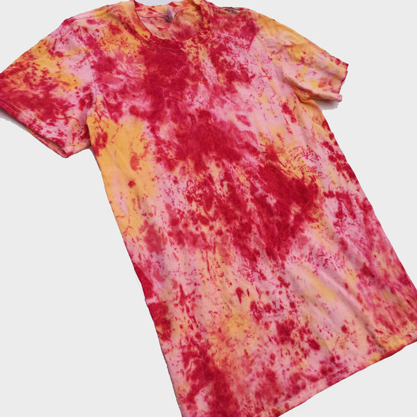 Plain Red/Yellow Tie Dye T-shirt