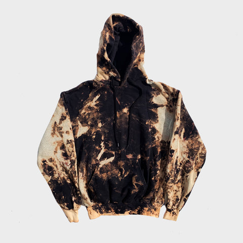 Plain Acid Burned Tie Dye Hoodie