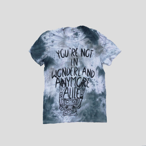 You're Not In Wonderland Anymore Alice Tie Dyed Soft Style T-shirt - Grey