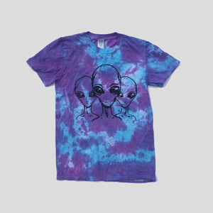 Aliens Purple/Blue Tie Dye T-shirt