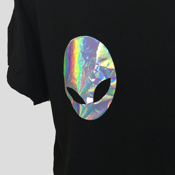 Holographic Alien Boobs T-shirt