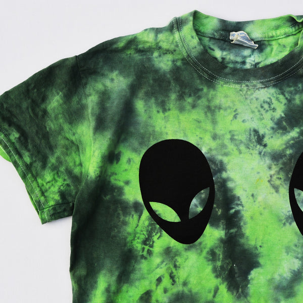 Alien Boobs Green/Black Tie Dye T-shirt