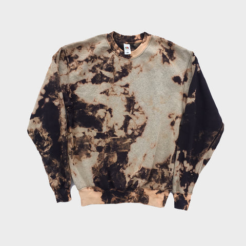 Plain Acid Burned Tie Dye Sweatshirt