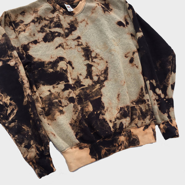 Acid Burned Tie Dye Sweatshirt
