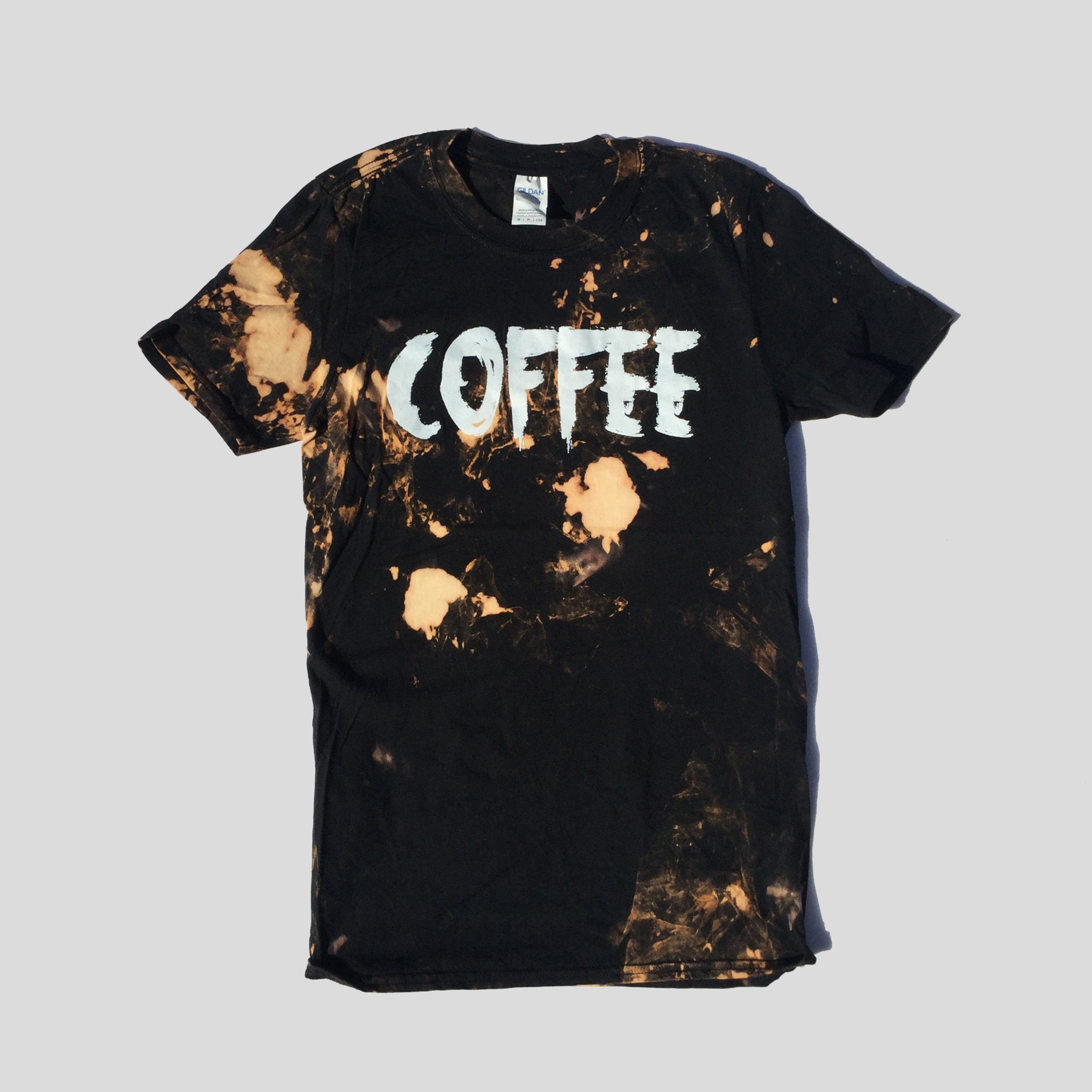 Coffee Acid Burned Tie Dye T-shirt
