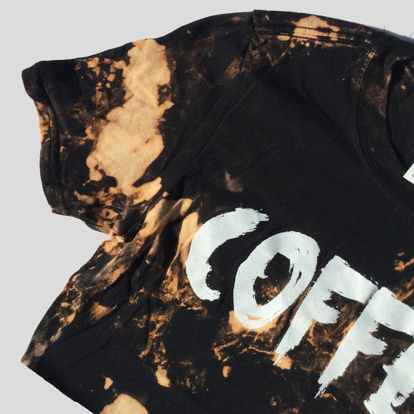 Coffee Acid Burned Tie Dye Crop Top