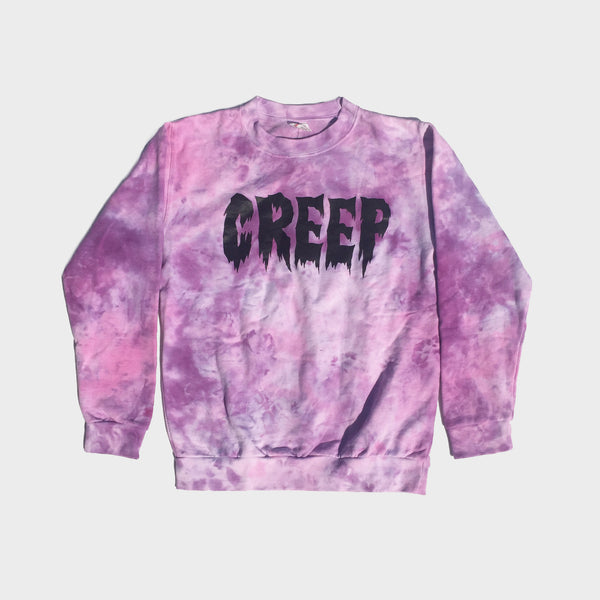 Creep Pink/Purple Tie Dye Sweatshirt