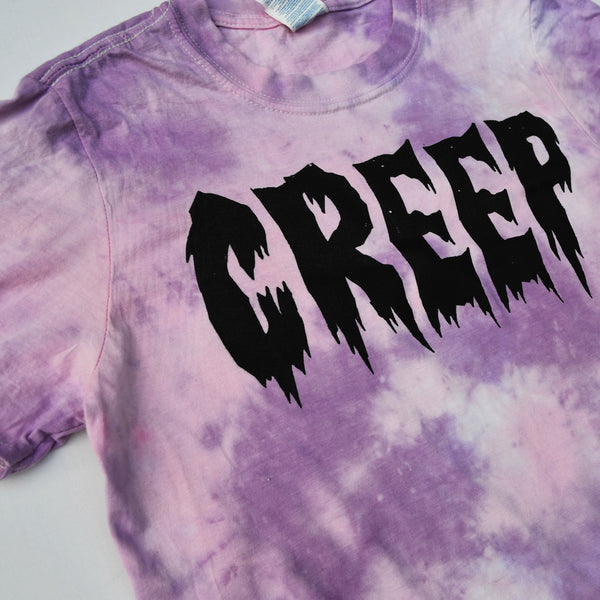 Creep Tie Dyed Soft Style T-shirt - Purple/Pink