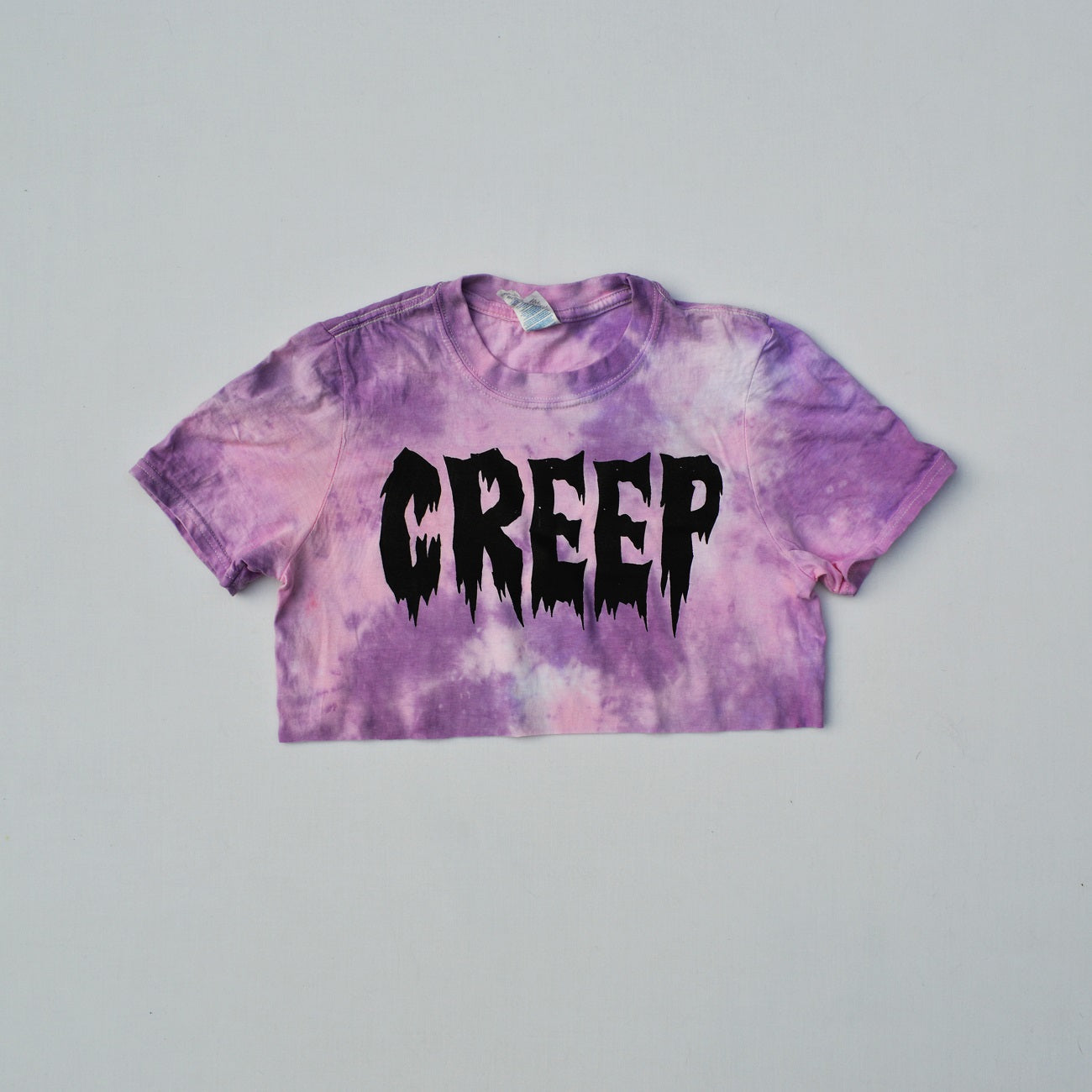 Creep Pink/Purple Tie Dye Crop Top