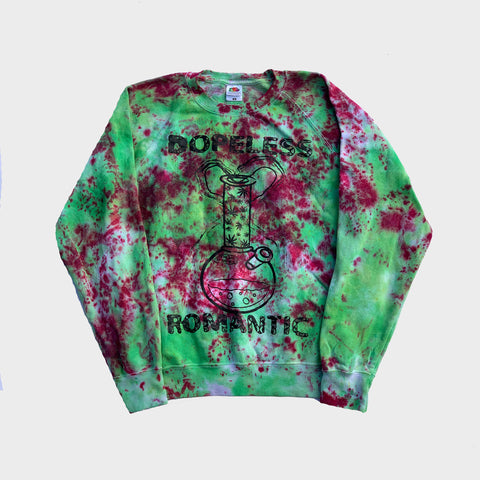 Dopeless Romantic Red/Green Tie Dye Sweatshirt