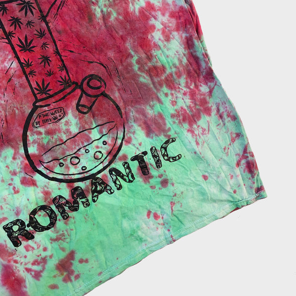 Dopeless Romantic Red/Green Tie Dye T-shirt