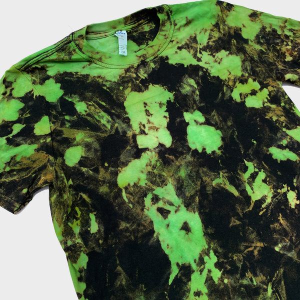Green/Black Reverse Tie Dye T-shirt