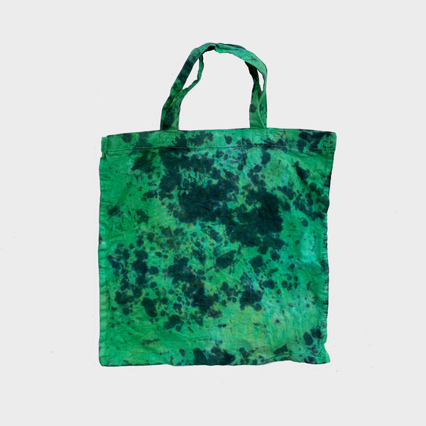 Green/Black Tie Dye Shopper Tote Bag