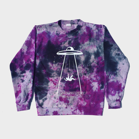 UFO Purple/Black Tie Dye Sweatshirt