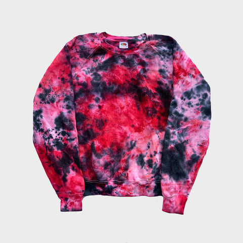 Red/Black Tie Dye Sweatshirt