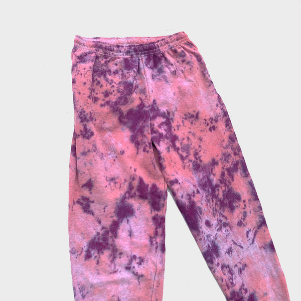 Pink/Purple Tie Dye Jogging Pants (Joggers)