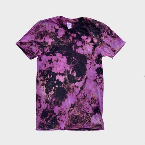 Purple/Black Reverse Tie Dye T-shirt