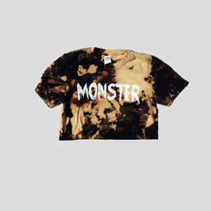 Monster Acid Burned Tie Dye Crop Top
