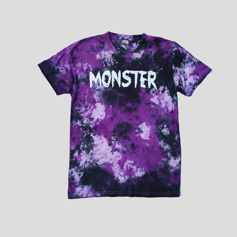 Monster Purple/Black Tie Dye T-shirt