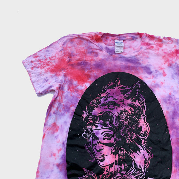 Wolf & Arrows Pink/Purple Tie Dye T-shirt