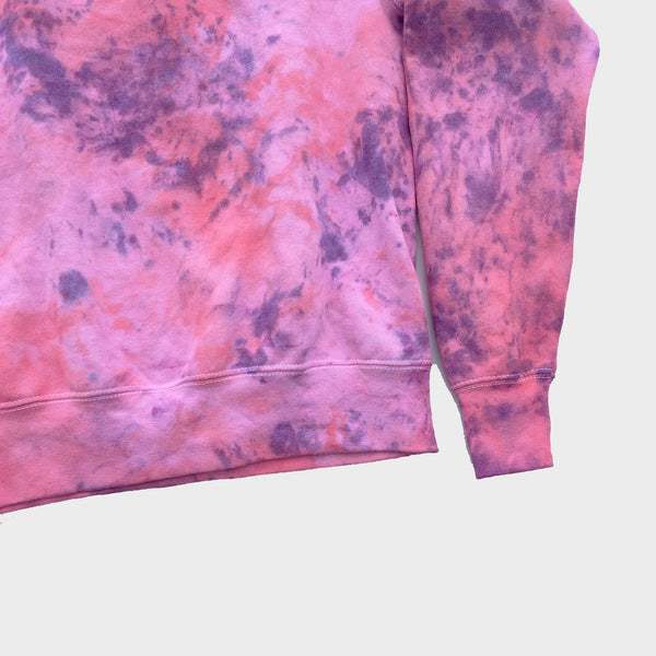 Plain Pink/Purple Tie Dye Sweatshirt