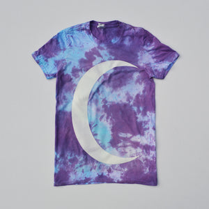 Crescent Moon Purple/Blue Tie Dye T-shirt