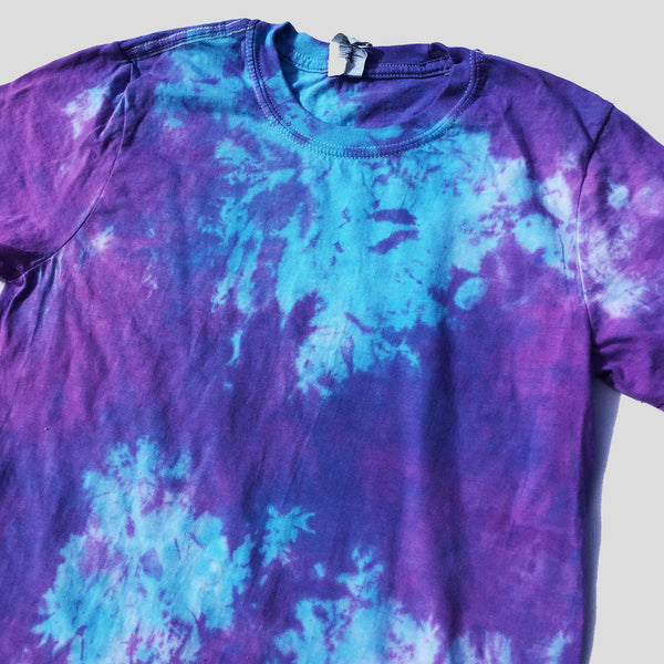 Plain Purple/Blue Tie Dye T-shirt