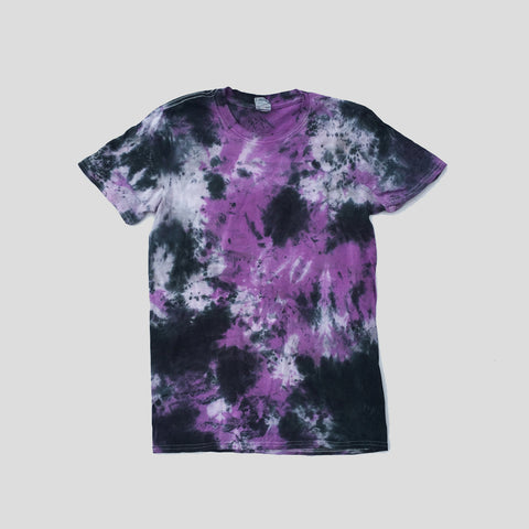Purple/Black Tie Dye T-shirt