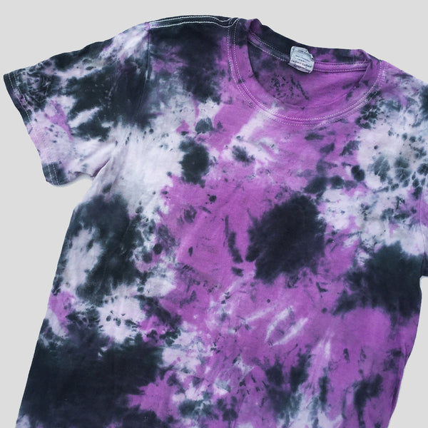 Plain Purple/Black Tie Dye T-shirt