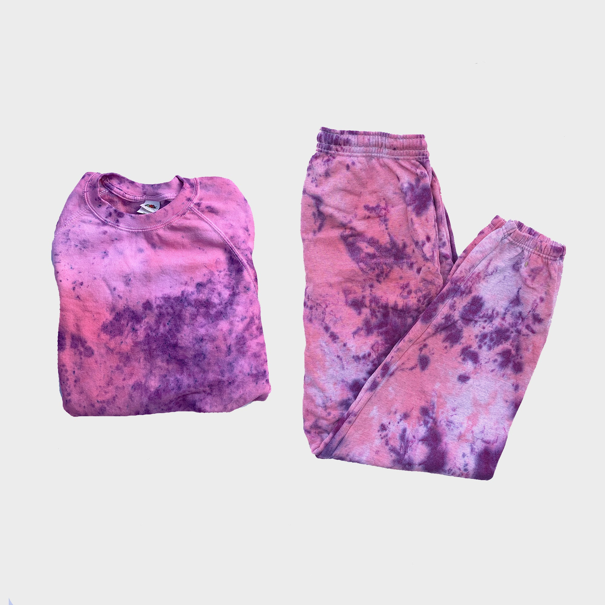 Pink/Purple Tie Dye Set