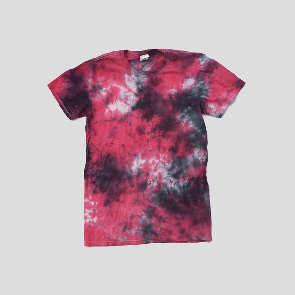Plain Red/Black Tie Dye T-shirt