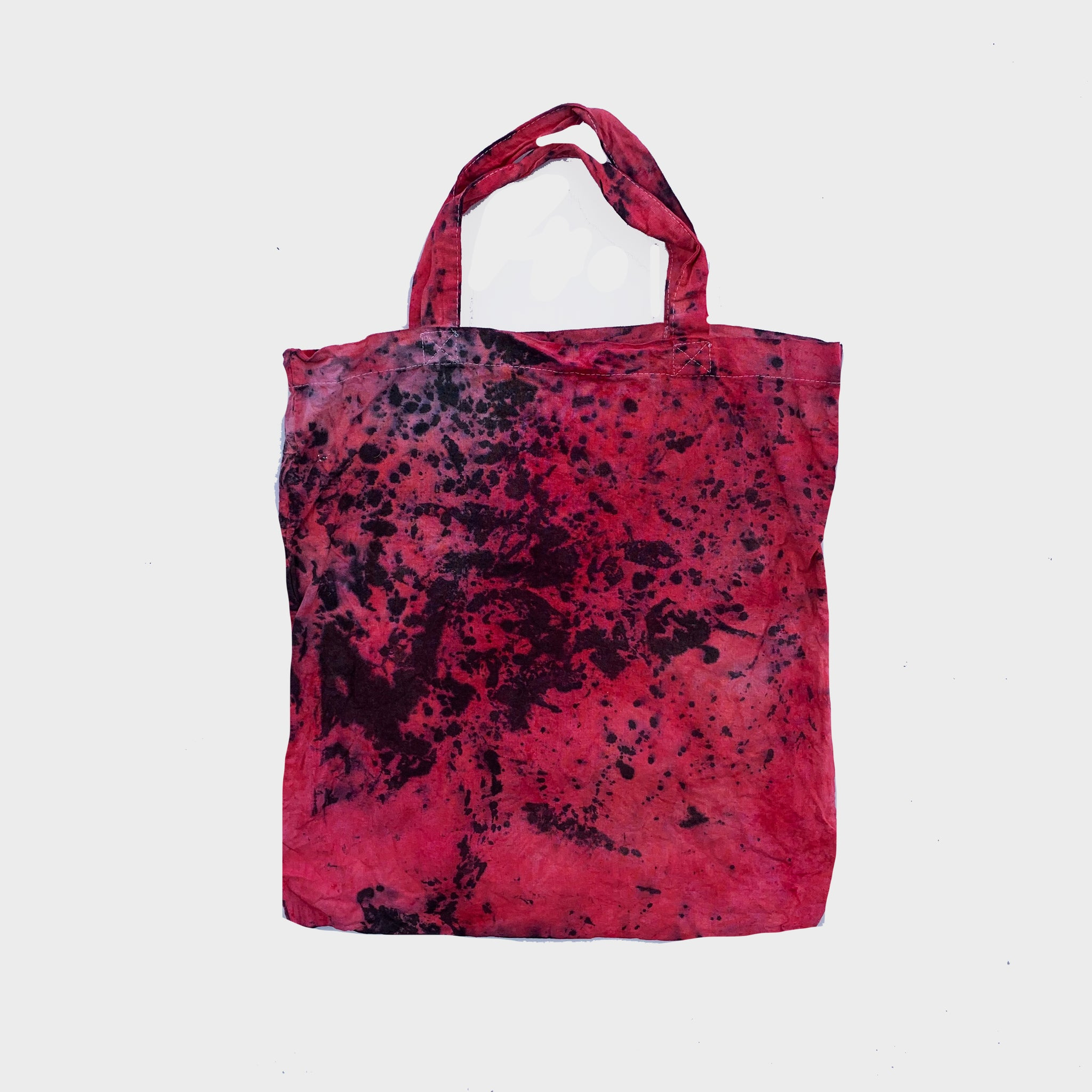 Red/Black Tie Dye Shopper Tote Bag