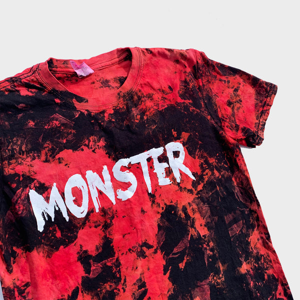 Monster Red/Black Reverse Tie Dye T-shirt