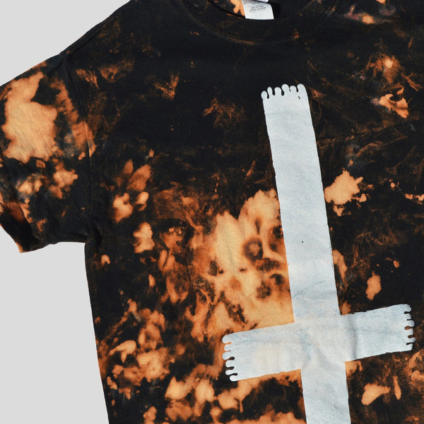Rest In Hell Acid Burned Tie Dye T-shirt