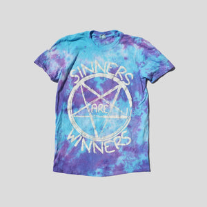 Sinners Are Winners Purple/Blue Tie Dye T-shirt