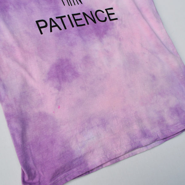 Thick Thighs Pink/Purple Tie Dye T-shirt