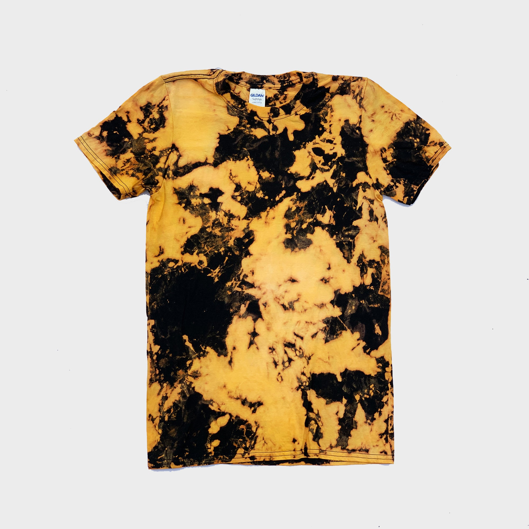 Yellow/Black Reverse Tie Dye T-shirt