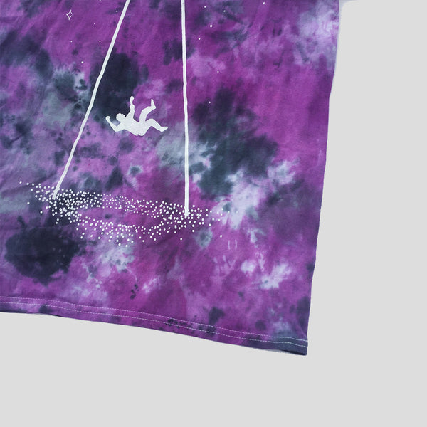 UFO Invasion Tie Dyed Soft Style T-shirt - Purple/Black
