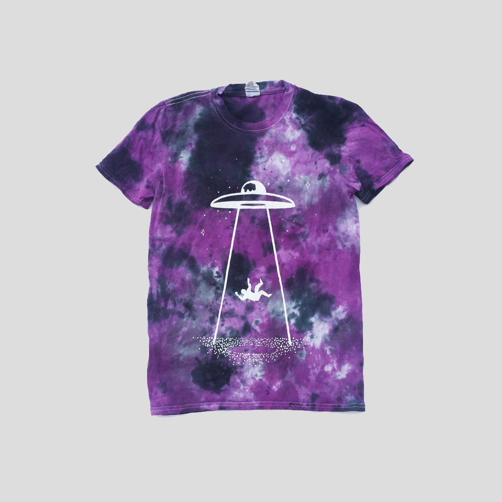 UFO Abduction Purple/Black Tie Dye T-shirt