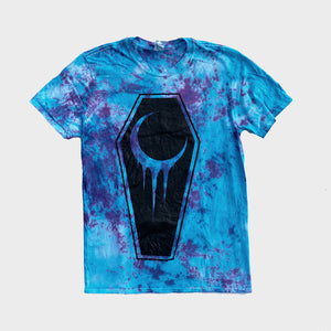 Crescent Coffin Purple/Blue Tie Dye T-shirt