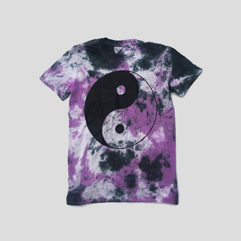 Yin Yang Purple/Black Tie Dye T-shirt