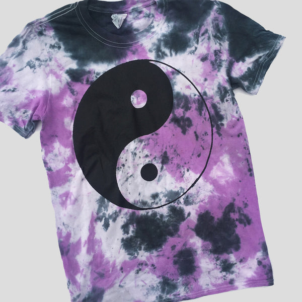Ying Yang Tie Dye T-shirt - Purple/Black
