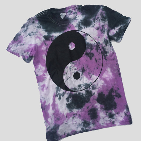 Ying Yang Purple/Black Tie Dye T-shirt