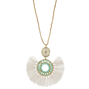 Necklace White/Turquoise